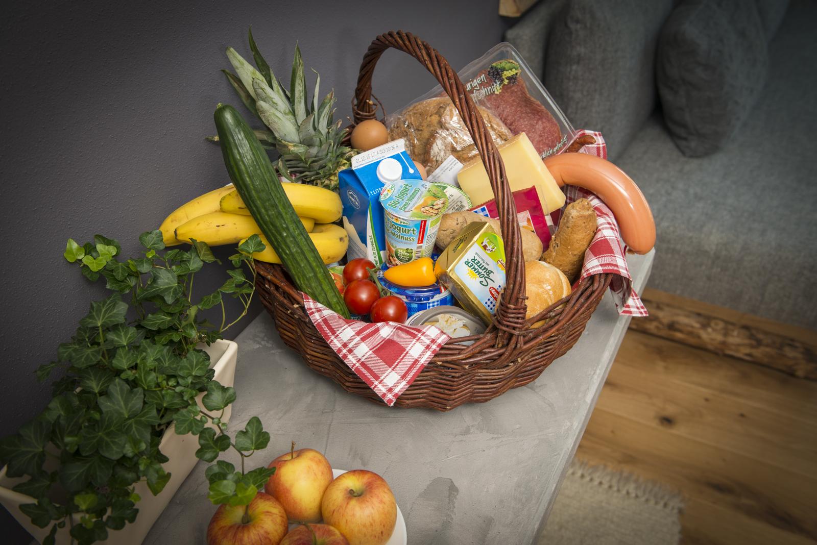 Bioprodukte, Frühstückskorb, Urlaub
