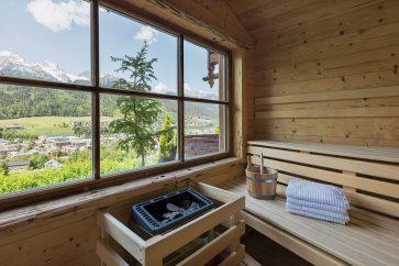 Luxus Ferienhaus Außensauna Schladming Österreich